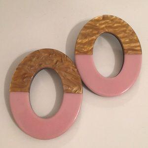 Pink acrylic earrings